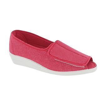 Mirak Quimper Canvas Ladies Summer Sandals Textile Rubber Touch Fastening Shoes