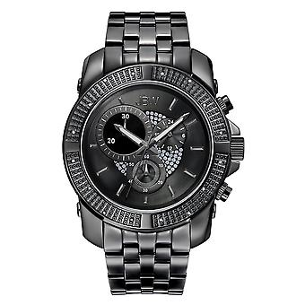 JBW diamond men's stainless steel watch WARREN - black