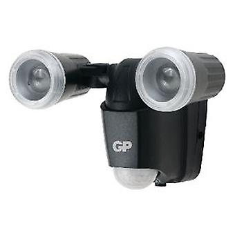 GP LED Outdoor Wall Light with Sensor 100 lm Black