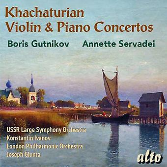 Khachaturian - Violin & Piano Concertos [CD] USA import