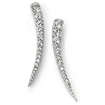 Argento 925 placcato rodio e zirconio orecchino