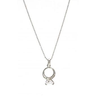 W.A.T Sparkling Crystal 'Its A Ring Thing' Necklace