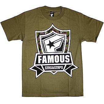 Stars célèbres et sangles Camo Mission T-Shirt vert militaire