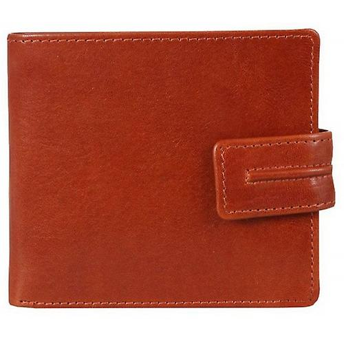 Dents Waxed Leather Wallet with Coin Purse - Cognac