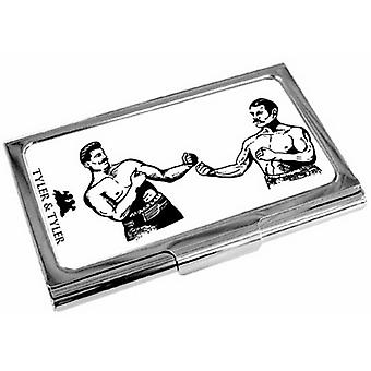Tyler and Tyler Bare Knuckle Business Card Case - White/Black