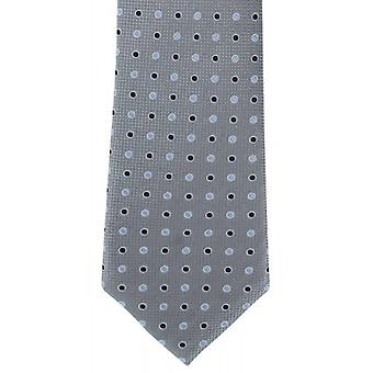 Michelsons of London Two Tone Colour Spot Silk Tie - Grey