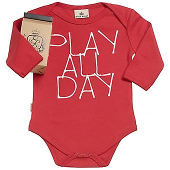 Spoilt Rotten Play All Day Organic Babygrow In Gift Milk Carton