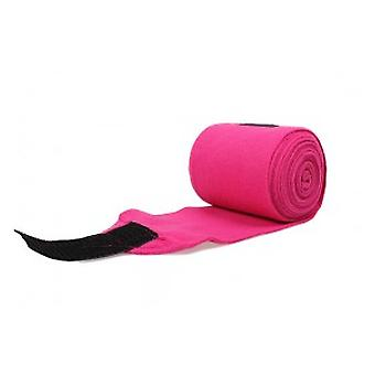 QHP Fuchsia wool Bandages (Horses , Horse riding equipment , Legs and tail , Bandages)