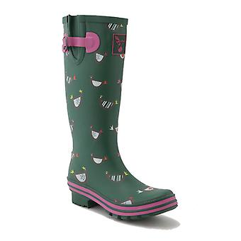 Evercreatures Ladies Evergreen Wellies Chicken Print Pattern - Various Sizes