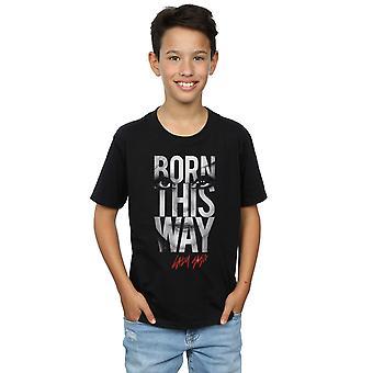 Lady Gaga Boys Born This Way Text T-Shirt