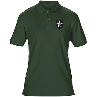 US Army 2nd infanteridivision broderad Logo - Mens Polo Shirt