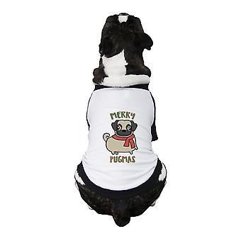 Frohe Pugmas Mops lustige Grafik Haustier Shirt Weihnachtsoutfits für Haustier