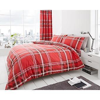 Newton Tartan kontrollera Polycotton tryckt duntäcke sluta luckan sängkläder som alla storlekar