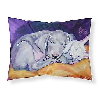 Weimaraner Snuggle Bunny Fabric Standard Pillowcase