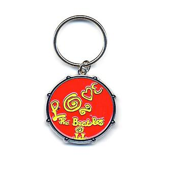 The Beatles Keyring Keychain Love Drum band logo new Official metal