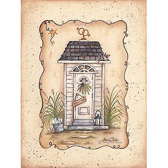 His and Her Outhouse Poster Print by Mary Ann June (9 x 12)