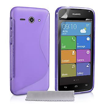 Caseflex Huawei Ascend Y530 Silicone Gel S-Line Case - Purple