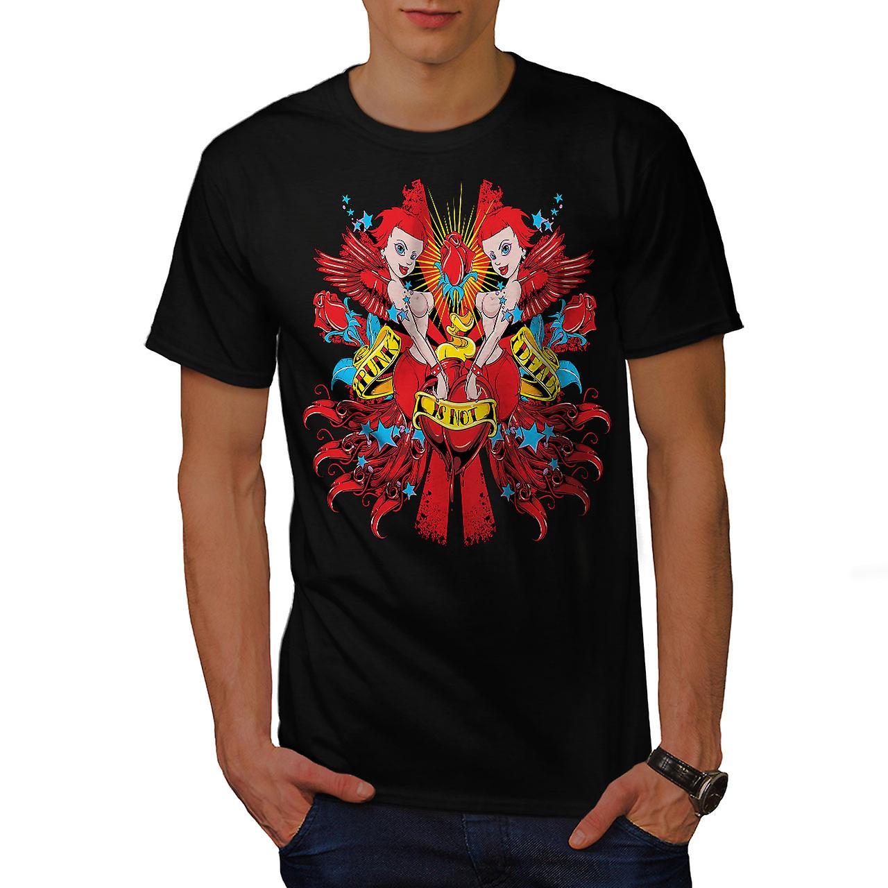 Punk Is Not Dead Sexy Men Black T-shirt | Wellcoda