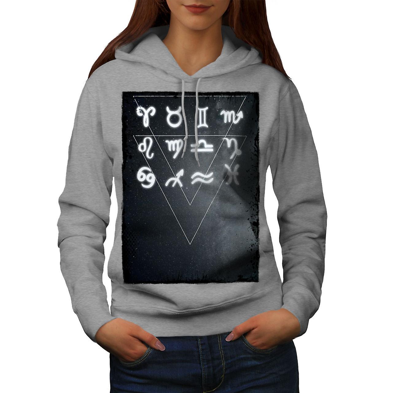 Zodiaque signe planète femmes grisHoodie