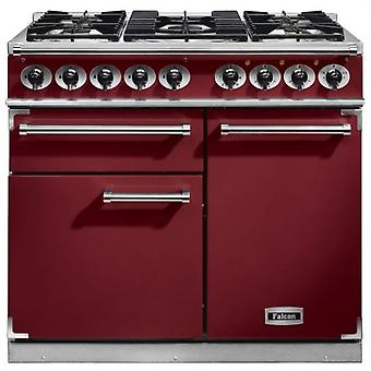 FALCON F1000DXDFCYNG 98490 - 100cm Deluxe Range Cooker, Cranberry Fini