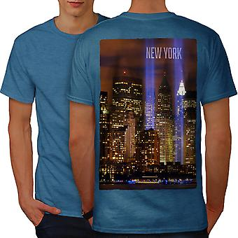 New York City Life Men Royal BlueT-shirt Back | Wellcoda