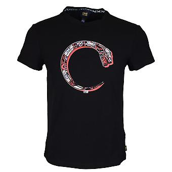 Cavalli Class B3jrb725 Jersey Stretch Snake Black T-shirt
