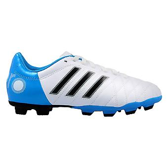 Adidas 11QUESTRA Trx FG J RUNWHTBLACK1SOLBLU F33120 voetbal kids jaarrond schoenen