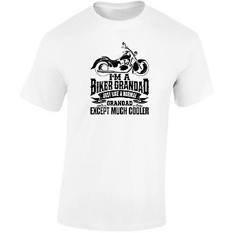 I'm A Biker Grandad Except Much Cooler Mens T-Shirt 10 Colours (S-3XL) by swagwear