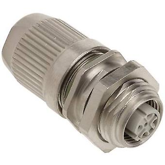 Sensor/actuator connector M12 Socket, straight No. of pins (RJ)