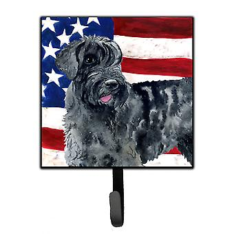 Carolines Treasures  BB9660SH4 Giant Schnauzer Patriotic Leash or Key Holder