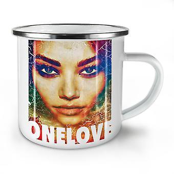 Love Girl Face Fashion NEW WhiteTea Coffee Enamel Mug10 oz | Wellcoda