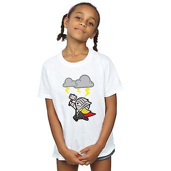 Marvel Mädchen Kawaii Thor Gott des Donners T-Shirt
