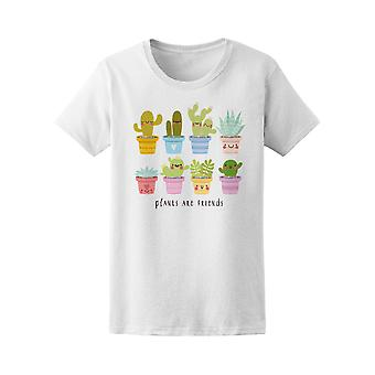 Kawaii Succulents Friends Tee Women's -Image by Shutterstock