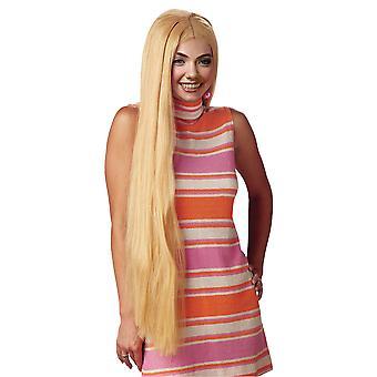 Hippie Rapunzel Greek Goddess 1970s Long Blonde 36