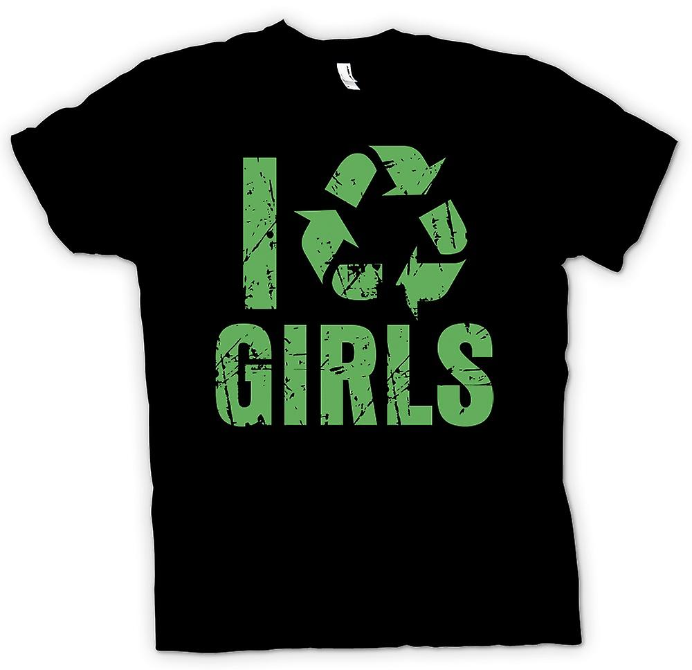 Mens T-shirt - I Love Girls