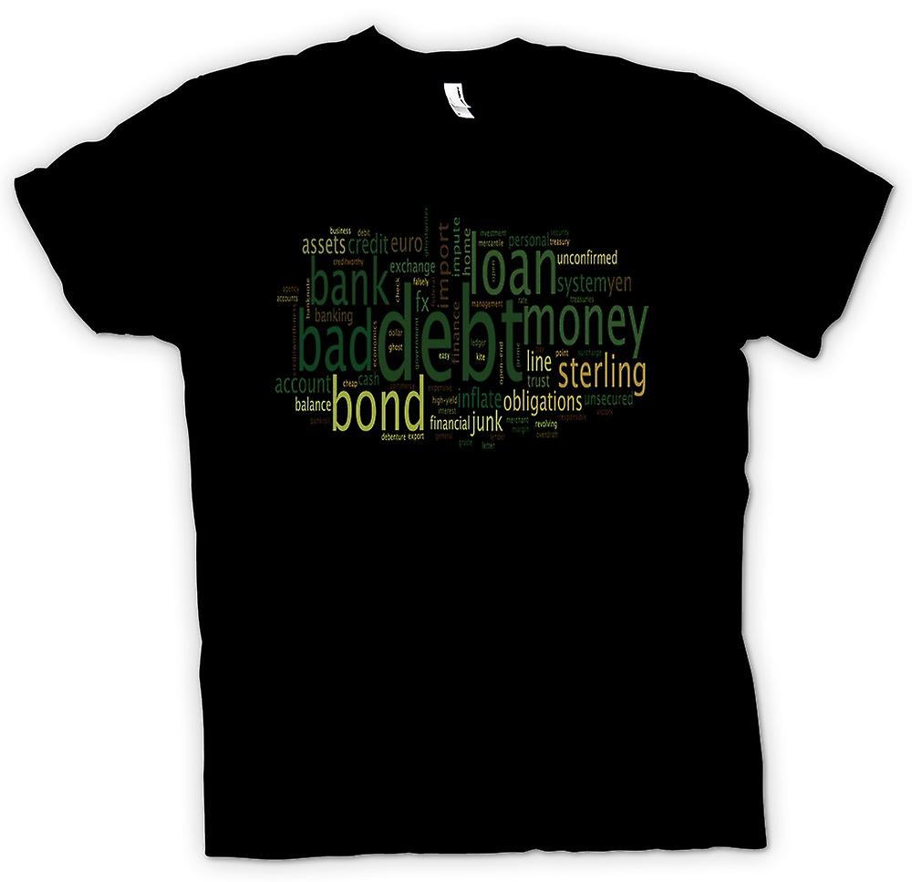Mens T-shirt - Bank Bad Debt - Funny