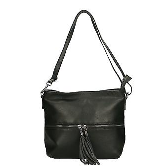 Women's genuine leather shoulder bag Made in Italy Treat Bags 30x25x10 Cm