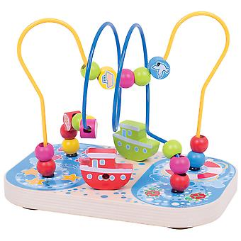 Bigjigs Toys Marine Bead Frame Activity Maze Play Centre Sorting Sensory