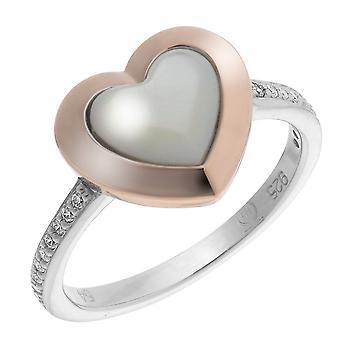 Orphelia plata 925 anillo corazón Roseplated fregona y circonio ZR-7289/RG