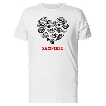 Seafood Food Heart Tee Men's -Image by Shutterstock