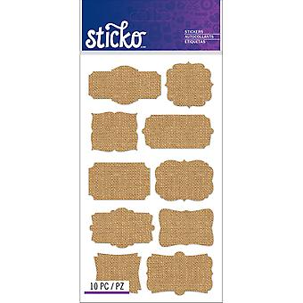 Sticko Label Stickers-Burlap Frames