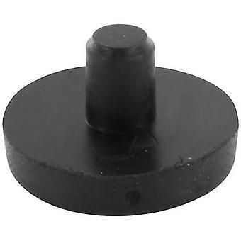 Foot Black (Ø x H) 17 mm x 10 mm 1 pc(s)