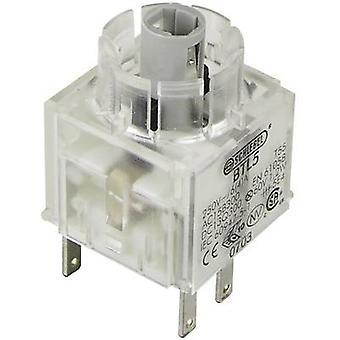 Contact + bulb holder 1 breaker, 1 maker momentary
