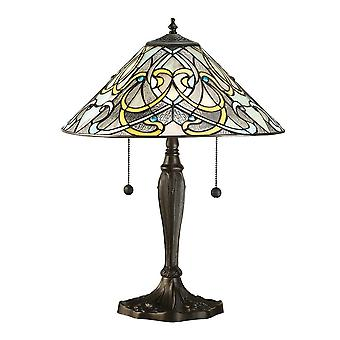 Interiors 1900 Dauphine 2 Light Table Lamp With Art Nou