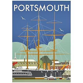 Portsmouth Hms Warrior Steel Fridge Magnet