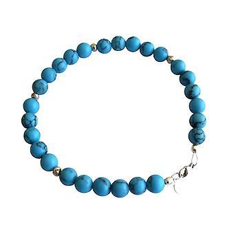 Gemshine - damer - armbånd - turkis - blå - sølv 925-6 mm