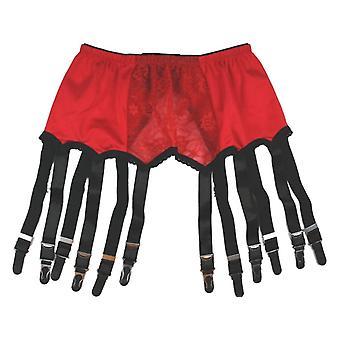 Premier lingeri rød blonde hofteholder / hofteholder bælter til strømper (PLrlsb)