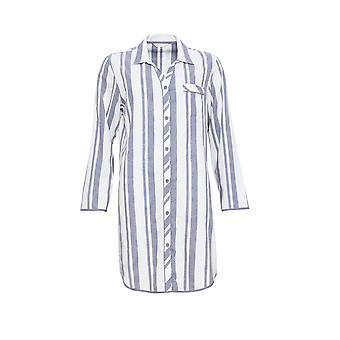 Cyberjammies 3865 Women's Fifi Grey Striped Sleep Shirt Nighty Nightshirt