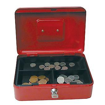 """6 """"tums små Key Lock-handkassa / spargris Sparbössa Pot säker rosa låsbar röd"""