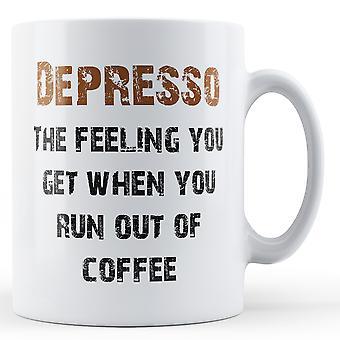 Decorative Writing Depresso - Printed Mug